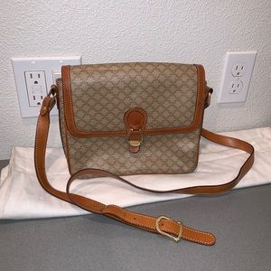 Authentic vintage Celine macadam crossbody purse